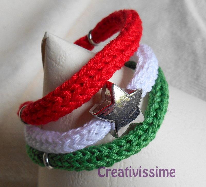 W l'Italia!! braccialetto triccotin italia fatto a mano con stella