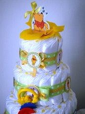 Torta di pannolini neutra - unisex - bimbo o bimba