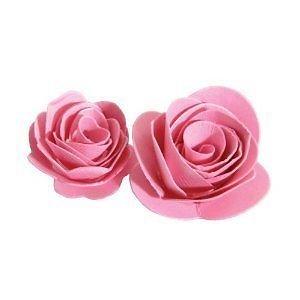 Forme per rose in feltro 3D - fustellate con Fustella Bigz sizzix rose 3D