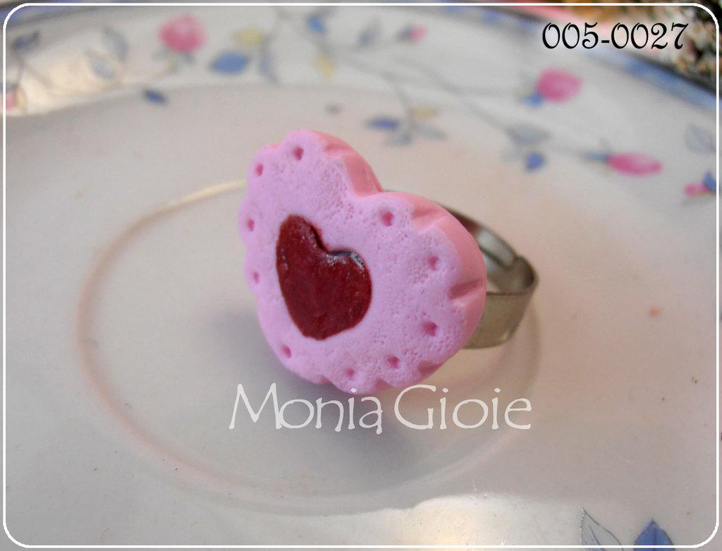 Anello cuore biscotto