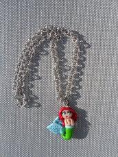 Collana con ciondolo dollina Ariel