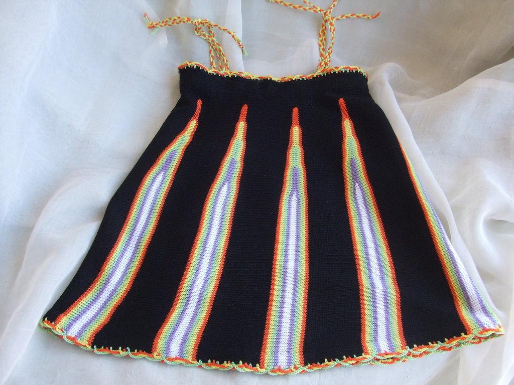 vestito bimba cotone maglia nero colorato