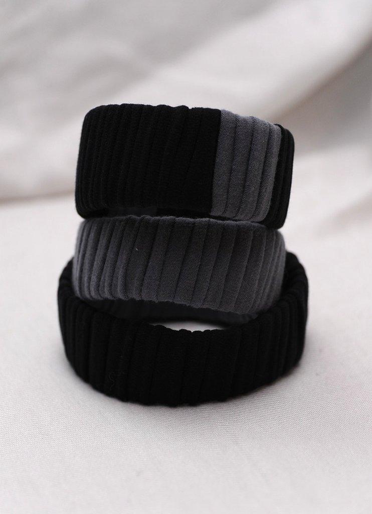 Bracciali Mobby grigio nero