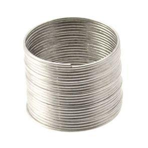 5 giri filo armonico per creare anello argentato