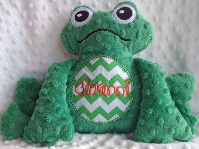 Rana personalizzata - peluche pupazzo verde