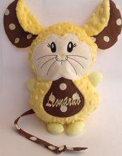 Topolino personalizzato - peluche pupazzo topo giallo