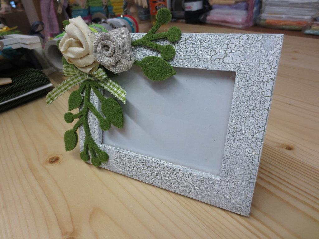 Porta foto con rose