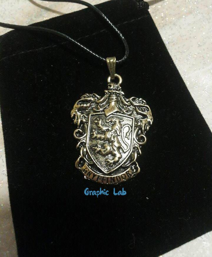 Collana Stemma Grifondoro in Oro Antico Harry Potter