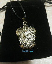 Collana Stemma Corvonero in Oro Antico Harry Potter