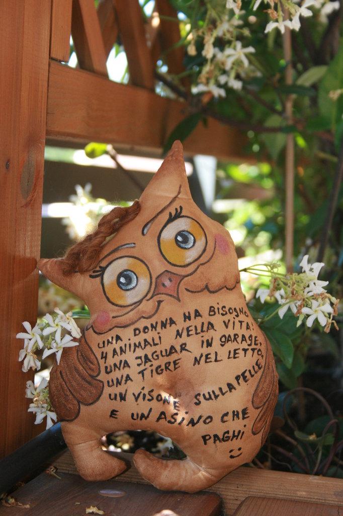 Bambola di Gufo in stoffa, aromatico, aroma di caffe    @ sull'ordine