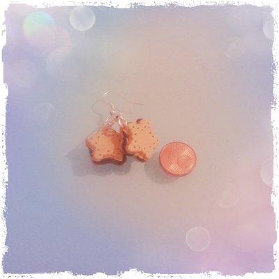 Orecchini cookies star