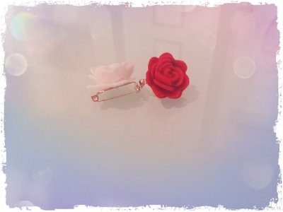 Spille rose (bianco e rosso)