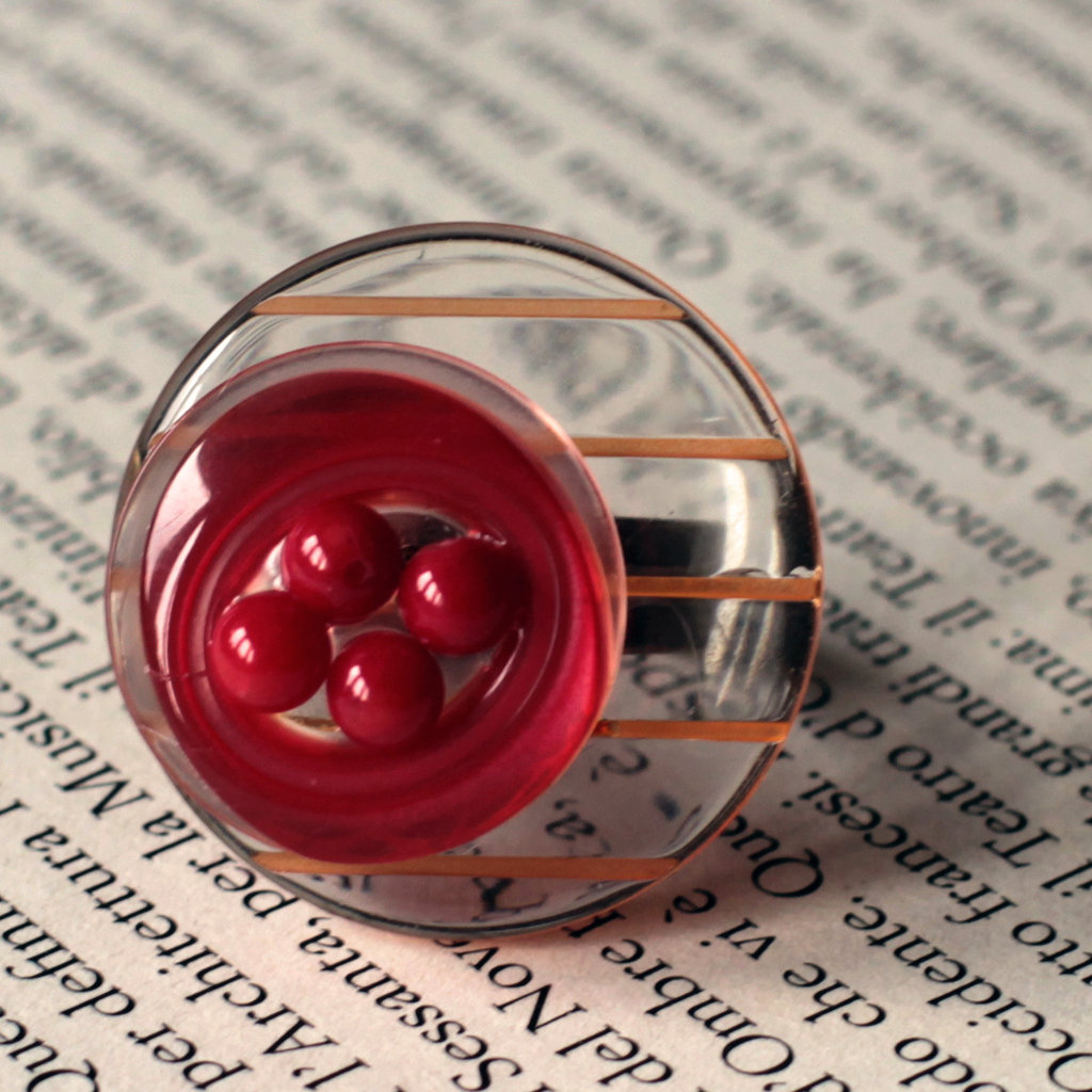A17.14 - Anello con bottoni e perline - Linea Miro