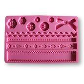 Stampo in Silicone per decorazioni con pasta di zucchero modello Bottoni