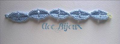 Braccialetto Crochet Foglie
