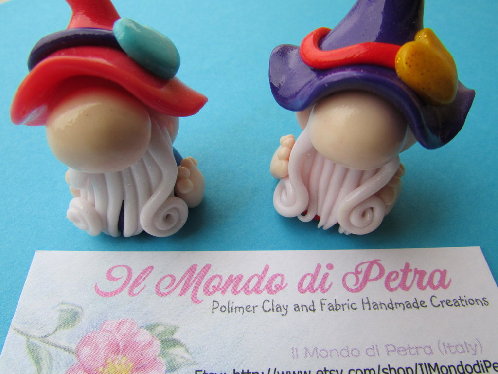 Gnometti Portafortuna in Fimo