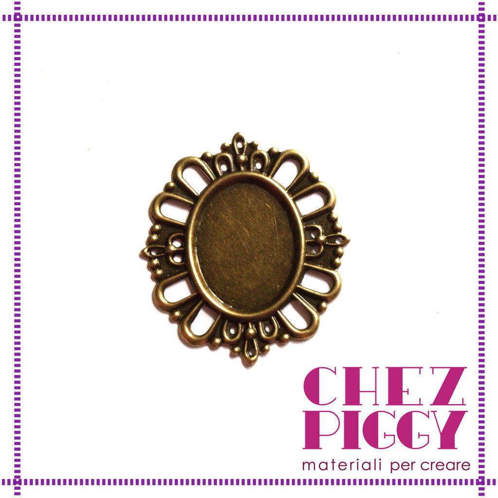 1 x cameo color bronzo in filigrana + vetrino