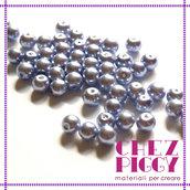 10 x perle di vetro indaco - grigio 8 mm