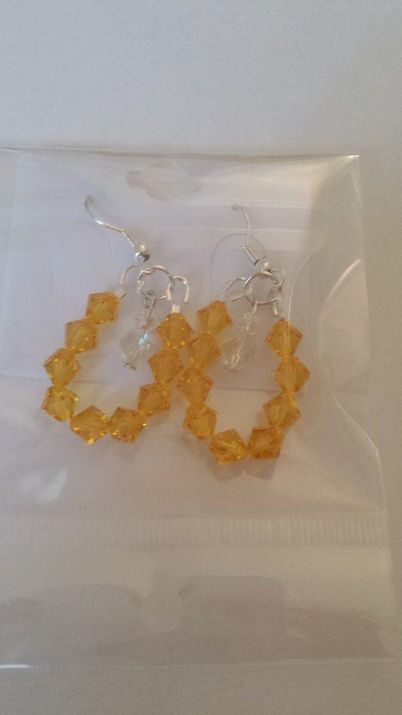 Orecchini Swarovski gialli