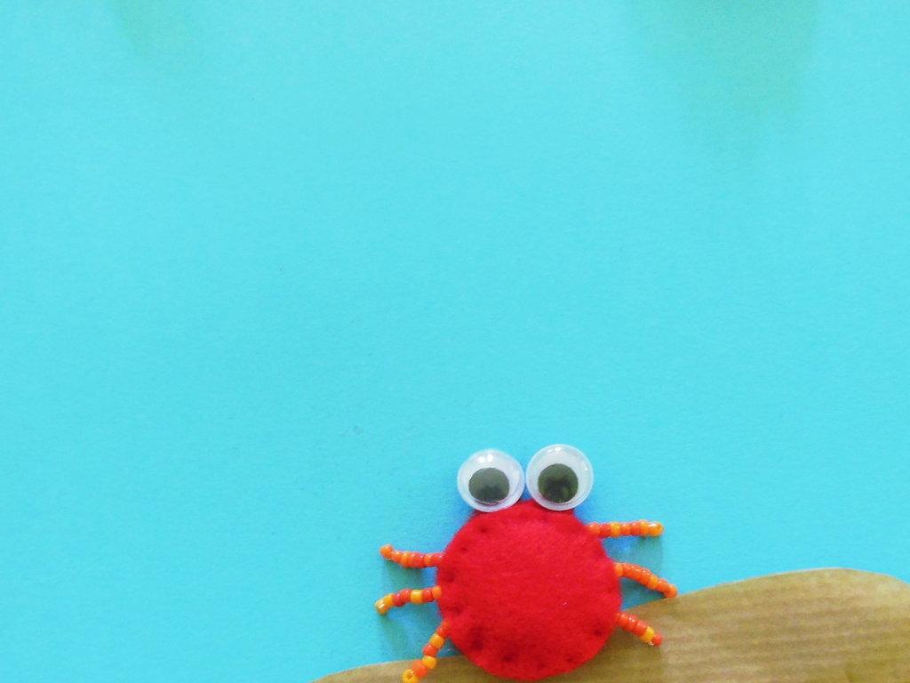 Miniatura granchio in feltro: per personalizzare delle bomboniere dal sapore di mare!