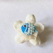 Bomboniera a tema marino: miniature di feltro per un fiore di cotone dal sapore di mare!