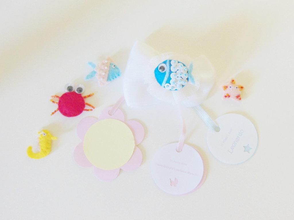 Set 5 bomboniere con miniature di fltro a tema 'mare': la bomboniera per la vostra sirenetta!