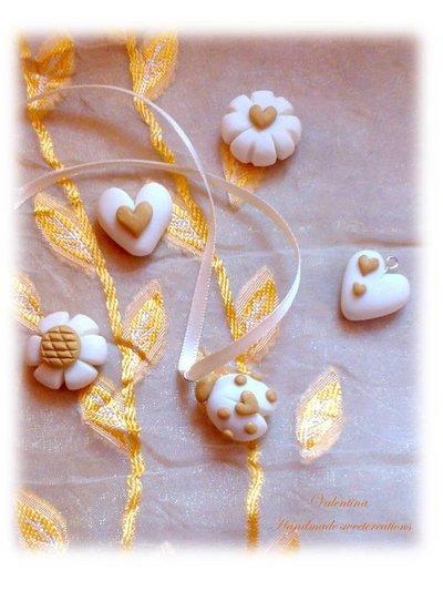 Charm chiudi sacchetto bomboniera matrimonio, coccinella cuore fiore quadrifoglio