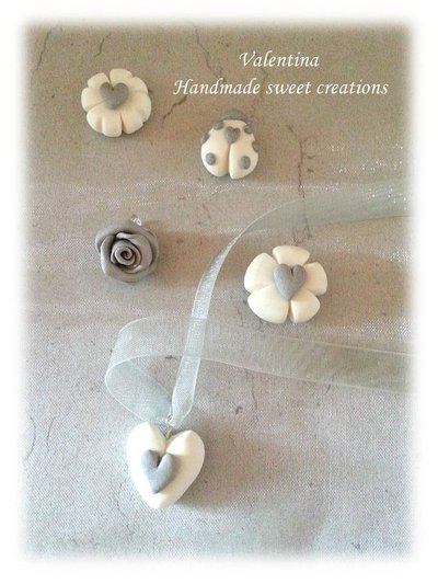 Charm coccinella, cuore, quadrifoglio, fiore, rosa, chiudisacchetto matrimonio