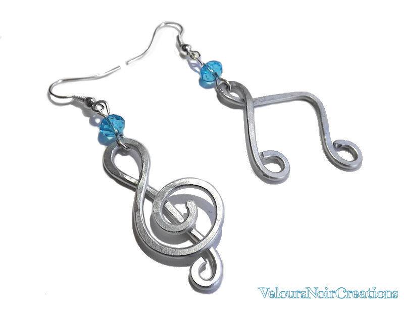 Orecchini note musicali chiave di violino wire