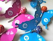 Farfalle porta lecca lecca in vendita nel negozio monica pegoraro