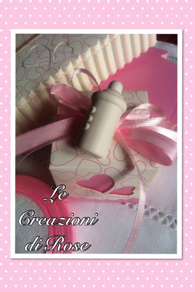 Kit 25 scatolina porta confetti bomboniera nascita battesimo gessi profumati