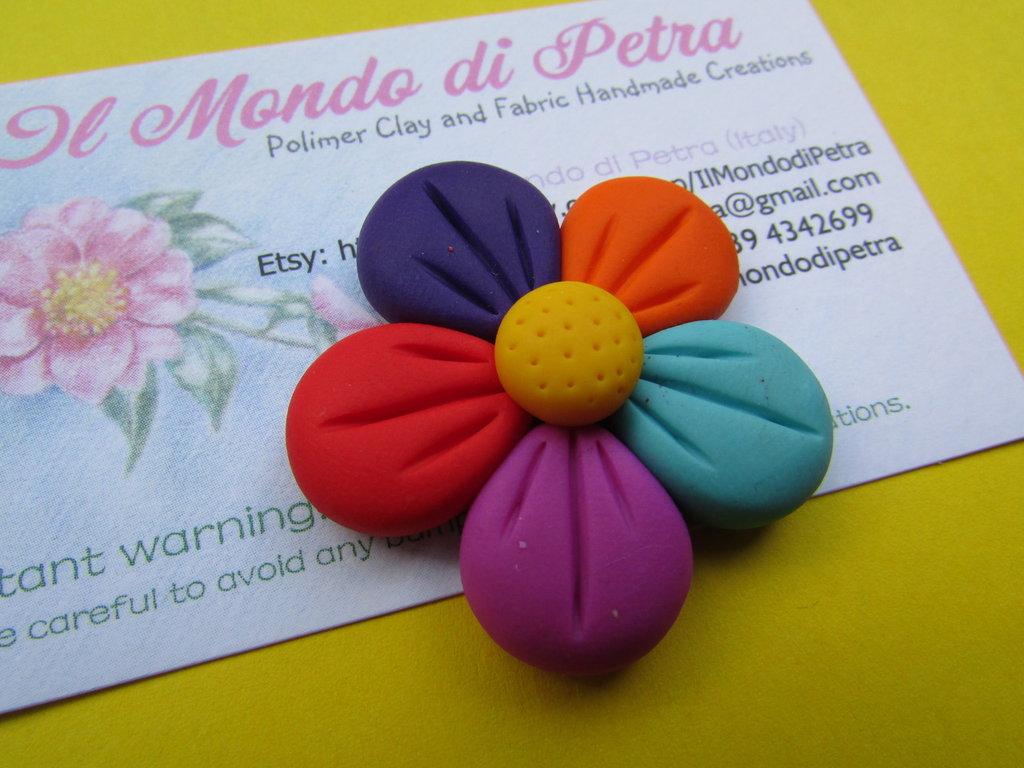 Magnete Fiorellino colorato in Fimo