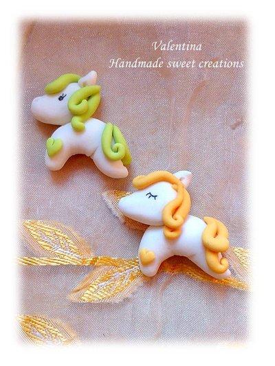 Cabochon decorazione cameretta, pony, cavallino pasta modellabile