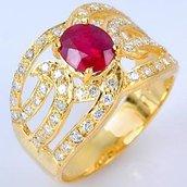anello con rubino