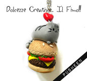 Collana Gatto Kawaii Hamburger idea regalo cute