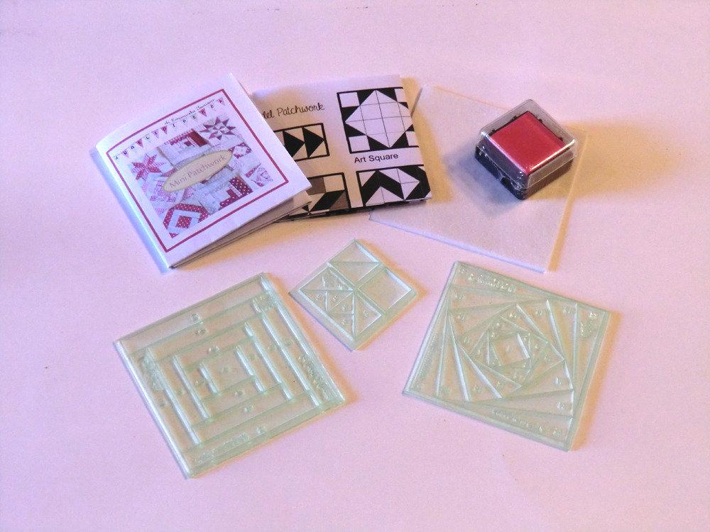 Minipatchwork (kit: Log Cabin + Iris Folding + Pas Partout)