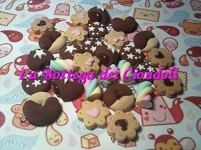 Lotto 30 ciondoli fimo dolci