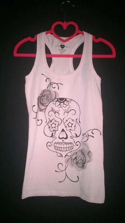 Canotta Skull and Roses