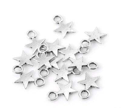 20x charms stella argento antico 11x9 mm.