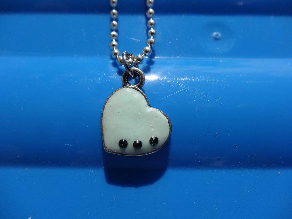 Collana cuore in fimo e cristalli swarovski