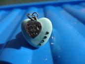 Anello cuore in fimo e cristalli swarovski