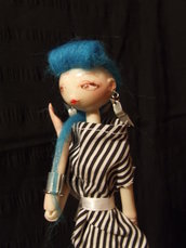 Bambola da collezione Punk-Rock baby