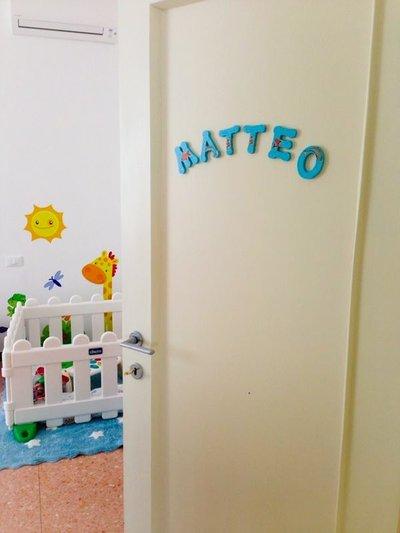 Lettere di legno decorate a découpage