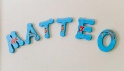 Lettere di legno decorate a découpage - Bambini - Cameretta - di I ...