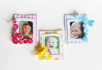 30 Bomboniere 'caramelle': deliziose cornici in feltro e cotone per dolci bambine, calamite per foto ricordo!