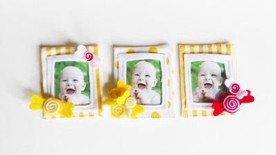 50 Bomboniere 'caramelle': deliziose cornici in feltro e cotone per dolci bambine, calamite per foto ricordo!