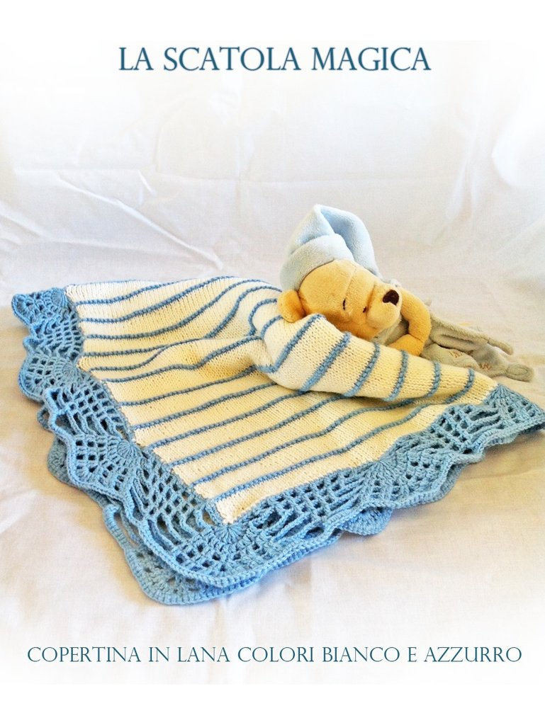 Copertina per culla o passeggino in lana