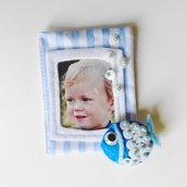 Bomboniere 'mare': allegre cornici calamitate in feltro per la foto dei vostri bambini!