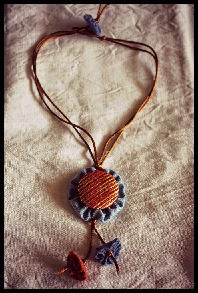 Collana Pierrot Arancione-Azzurro