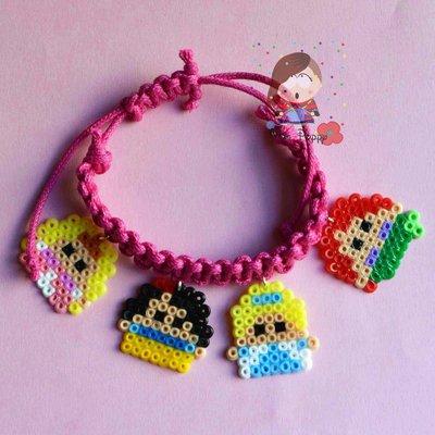 "Bracciale mini hama beads ""Principesse"""